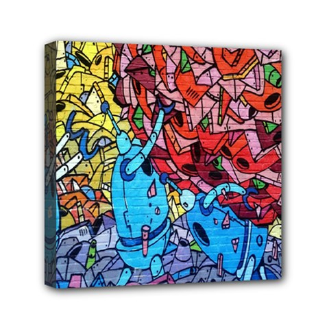 Colorful Graffiti Art Mini Canvas 6  X 6