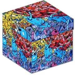 Colorful Graffiti Art Storage Stool 12