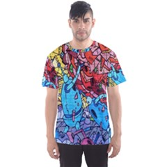 Colorful Graffiti Art Men s Sport Mesh Tee