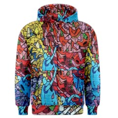 Colorful Graffiti Art Men s Zipper Hoodie