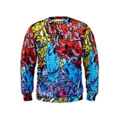 Colorful Graffiti Art Kids  Sweatshirt