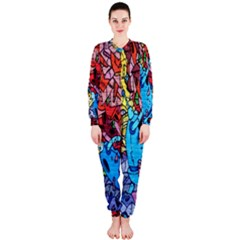 Colorful Graffiti Art Onepiece Jumpsuit (ladies)