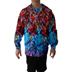 Colorful Graffiti Art Hooded Wind Breaker (kids)