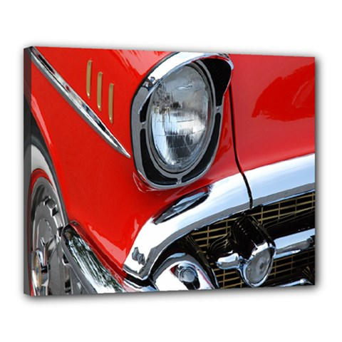Classic Car Red Automobiles Canvas 20  X 16