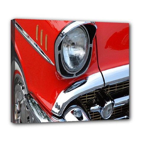 Classic Car Red Automobiles Deluxe Canvas 24  x 20