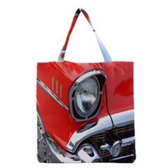 Classic Car Red Automobiles Grocery Tote Bag