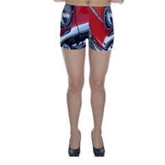 Classic Car Red Automobiles Skinny Shorts