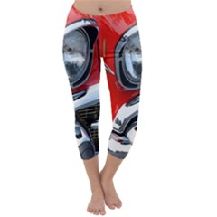 Classic Car Red Automobiles Capri Winter Leggings