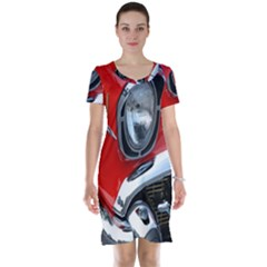 Classic Car Red Automobiles Short Sleeve Nightdress