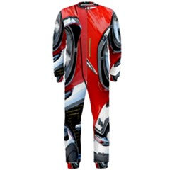 Classic Car Red Automobiles Onepiece Jumpsuit (men)