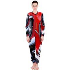 Classic Car Red Automobiles OnePiece Jumpsuit (Ladies)