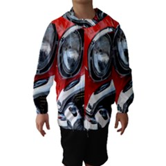 Classic Car Red Automobiles Hooded Wind Breaker (Kids)