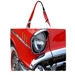 Classic Car Red Automobiles Large Tote Bag