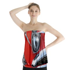 Classic Car Red Automobiles Strapless Top