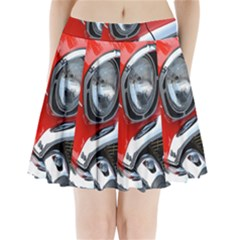 Classic Car Red Automobiles Pleated Mini Skirt