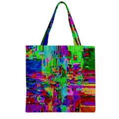 Compression Pattern Generator Zipper Grocery Tote Bag