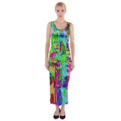 Compression Pattern Generator Fitted Maxi Dress
