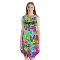 Compression Pattern Generator Sleeveless Chiffon Dress
