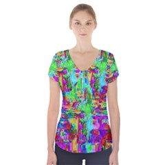 Compression Pattern Generator Short Sleeve Front Detail Top