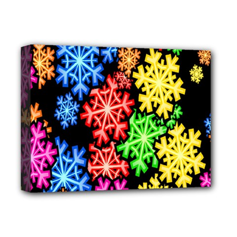 Colourful Snowflake Wallpaper Pattern Deluxe Canvas 16  X 12