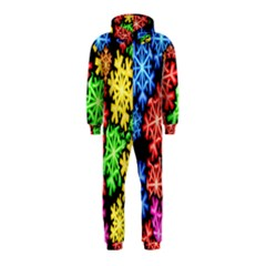 Colourful Snowflake Wallpaper Pattern Hooded Jumpsuit (kids)