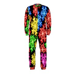 Colourful Snowflake Wallpaper Pattern Onepiece Jumpsuit (kids)