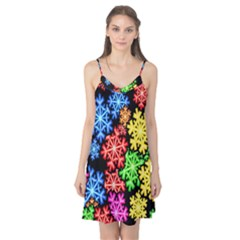 Colourful Snowflake Wallpaper Pattern Camis Nightgown