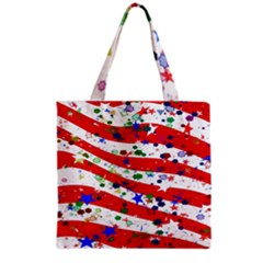 Confetti Star Parade Usa Lines Grocery Tote Bag