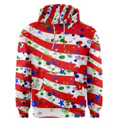 Confetti Star Parade Usa Lines Men s Pullover Hoodie