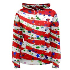 Confetti Star Parade Usa Lines Women s Pullover Hoodie