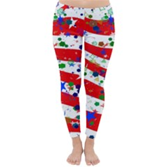 Confetti Star Parade Usa Lines Classic Winter Leggings