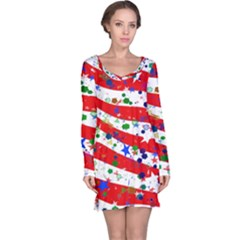 Confetti Star Parade Usa Lines Long Sleeve Nightdress