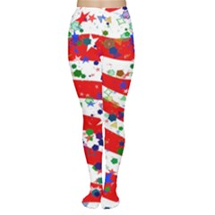 Confetti Star Parade Usa Lines Women s Tights