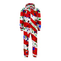 Confetti Star Parade Usa Lines Hooded Jumpsuit (kids)