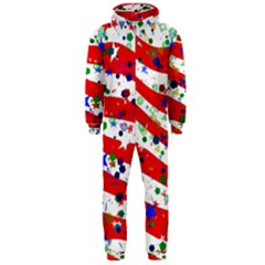 Confetti Star Parade Usa Lines Hooded Jumpsuit (men)