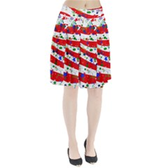 Confetti Star Parade Usa Lines Pleated Skirt