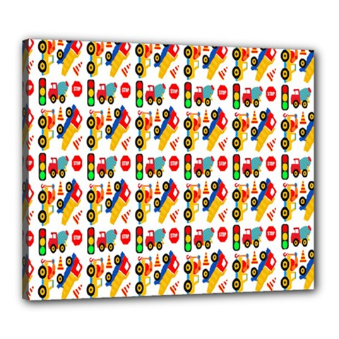 Construction Pattern Background Canvas 24  X 20
