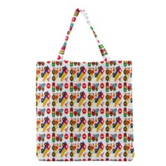 Construction Pattern Background Grocery Tote Bag