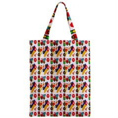 Construction Pattern Background Zipper Classic Tote Bag