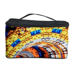 Complex Fractal Chaos Grid Clock Cosmetic Storage Case