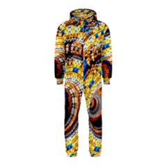 Complex Fractal Chaos Grid Clock Hooded Jumpsuit (Kids)