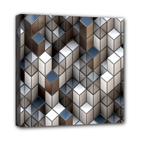 Cube Design Background Modern Mini Canvas 8  x 8