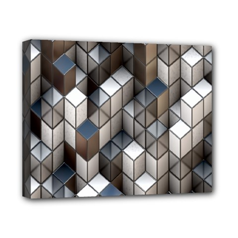 Cube Design Background Modern Canvas 10  x 8