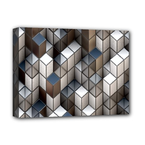 Cube Design Background Modern Deluxe Canvas 16  x 12