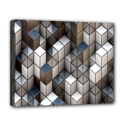 Cube Design Background Modern Deluxe Canvas 20  x 16