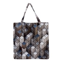 Cube Design Background Modern Grocery Tote Bag