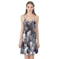 Cube Design Background Modern Camis Nightgown