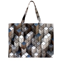 Cube Design Background Modern Large Tote Bag