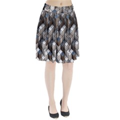 Cube Design Background Modern Pleated Skirt