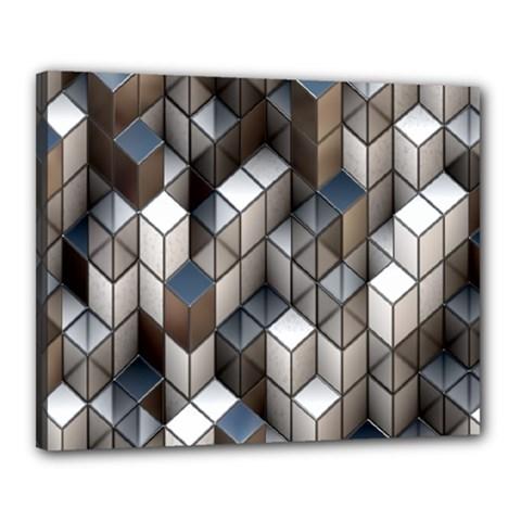 Cube Design Background Modern Canvas 20  x 16